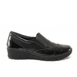 Дамски ортопедични обувки от естествена кожа SOFTMODE 242 Sadie черен | Равни дамски обувки