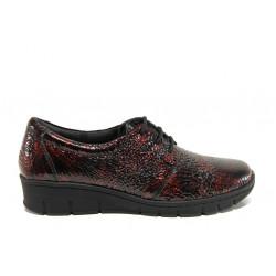 Дамски ортопедични обувки от естествена кожа SOFTMODE 391 Simone бордо | Равни дамски обувки
