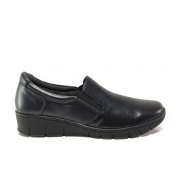 Дамски ортопедични обувки от естествена кожа SOFTMODE 314 Sierra т.син | Равни дамски обувки