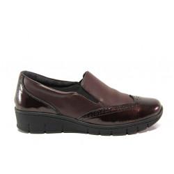 Дамски ортопедични обувки от естествена кожа SOFTMODE 242 Sadie бордо | Равни дамски обувки