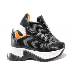 Иновативни дамски маратонки на комфортно ходило МИ 203 черен | Дамски маратонки