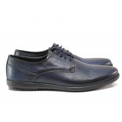 Анатомични обувки от естествена кожа ЛД 177 син | Мъжки ежедневни обувки
