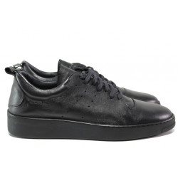 Анатомични обувки от естествена кожа МИ 1133 черен   Мъжки ежедневни обувки