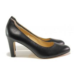 Дамски обувки от естествена кожа Caprice 9-22401-23G черен | Немски обувки на ток