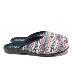 Анатомични домашни чехли с Bio ходила МА 23469 син | Домашни чехли