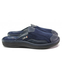 Анатомични български чехли Spesita 613 син   Мъжки домашни чехли