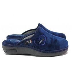 Анатомични български домашни чехли Spesita 671 т.син | Дамски домашни чехли
