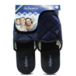 Анатомични мъжки чехли Defonseca MILANOI M542 син | Домашни чехли