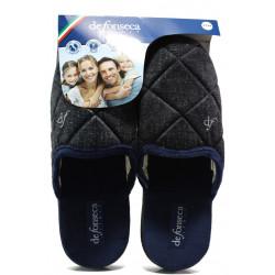 Анатомични мъжки чехли Defonseca MILANOI M542 черен | Домашни чехли