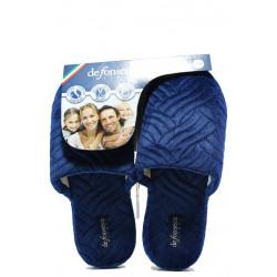 Анатомични дамски чехли Defonseca ROMA TOP I W563 т.син | Домашни чехли
