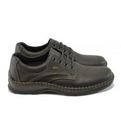 Мъжки обувки от естествена кожа Rieker 05310-25 кафяв