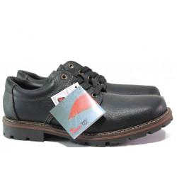 Мъжки водоустойчиви обувки от естествена кожа Rieker 17710-00 черен ANTISTRESS | Немски мъжки обувки