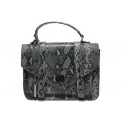 Елегантна дамска чанта с кроко мотив ФР 7126 сив | Дамска чанта