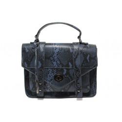 Елегантна дамска чанта с кроко мотив ФР 7126 син | Дамска чанта