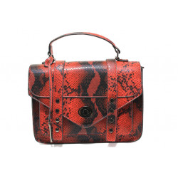 Елегантна дамска чанта с кроко мотив ФР 7126 червен | Дамска чанта