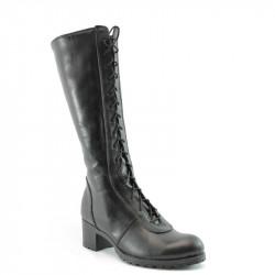 Български дамски ботуши от естествена кожа НЛ 96-6658 черен | Дамски ботуши с топъл хастар