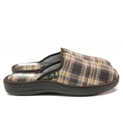 Анатомични български чехли Spesita 668 кафяв | Мъжки домашни чехли