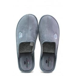 Анатомични български чехли Spesita 640 сив   Мъжки домашни чехли