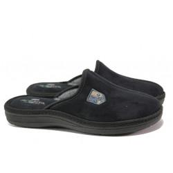 Анатомични български чехли Spesita 640 черен | Мъжки домашни чехли