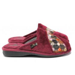 Анатомични български домашни чехли Spesita 631 бордо | Дамски домашни чехли