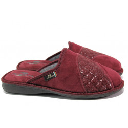 Анатомични български домашни чехли Spesita 633 бордо | Дамски домашни чехли