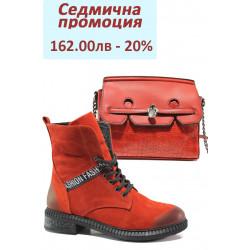 Дамски комплект ФР 8026 и МИ 305-91 червен | Комплекти обувки и чанти