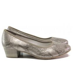 Дамски обувки със змийски принт за Н крак Jana 8-22360-24Н сив | Немски обувки на ток