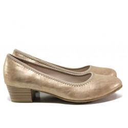 Дамски обувки на среден ток за Н крак Jana 8-22361-24Н бронз | Немски обувки на ток