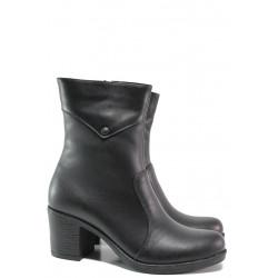 Дамски боти от естествена кожа МИ 200 черен | Дамски боти с топъл хастар