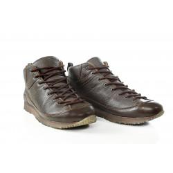 Водоустойчиви мъжки кецове от естествена кожа МН ROMA 420201 кафяв   Мъжки ежедневни обувки
