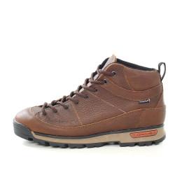 Водоустойчиви юношески кецове от естествена кожа МН NAPOLI 420201 кафяв | Юношески спортни обувки