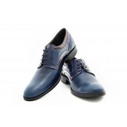 Елегантни мъжки обувки от естествена кожа МН Livio 290601 син | Мъжки официални обувки