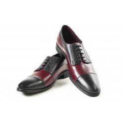 Елегантни мъжки обувки от естествена кожа МН Dylan 120151 черен-бордо | Мъжки официални обувки