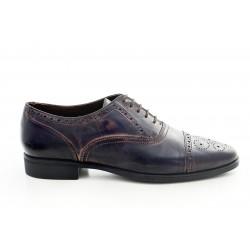 Елегантни мъжки обувки от естествена кожа МН Tody Antique 130401 син | Мъжки официални обувки