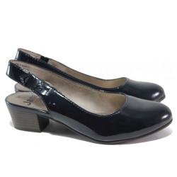 Дамски обувки с отворена пета Jana 8-29561-24Н т.син | Немски обувки на ток
