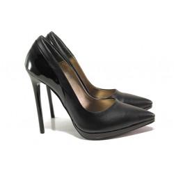 Елегантни дамски обувки МИ 466-6 черен | Дамски обувки на висок ток