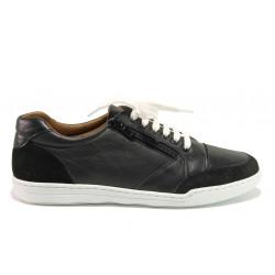 Дамски ортопедични спортни обувки от естествена кожа SOFTMODE 201 Carmen черен | Дамски маратонки