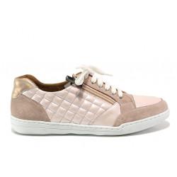 Дамски ортопедични спортни обувки от естествена кожа SOFTMODE 201 Carmen розов | Дамски маратонки