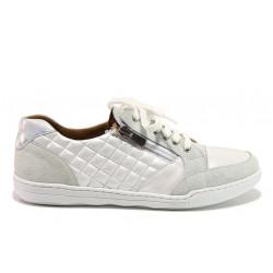 Дамски ортопедични спортни обувки от естествена кожа SOFTMODE 201 Carmen бял | Дамски маратонки