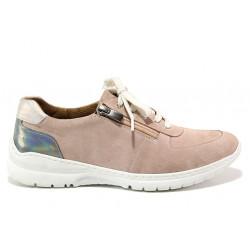 Дамски ортопедични спортни обувки от естествен велур SOFTMODE 1912 Harper розов | Дамски маратонки