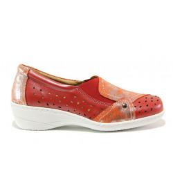 Дамски ортопедични обувки от естествена кожа SOFTMODE 225 Emily червен   Дамски обувки на платформа