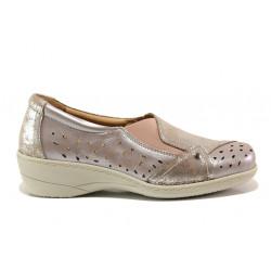 Дамски ортопедични обувки от естествена кожа SOFTMODE 225 Emily таупе | Дамски обувки на платформа