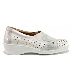 Дамски ортопедични обувки от естествена кожа SOFTMODE 225 Emily бял | Дамски обувки на платформа