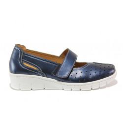 Дамски ортопедични обувки от естествена кожа SOFTMODE 390 Trudy син | Дамски обувки на платформа