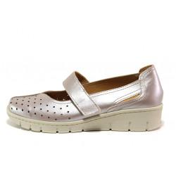 Дамски ортопедични обувки от естествена кожа SOFTMODE 390 Trudy таупе   Дамски обувки на платформа