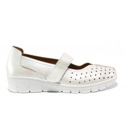 Дамски ортопедични обувки от естествена кожа SOFTMODE 390 Trudy бял | Дамски обувки на платформа