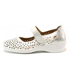 Дамски ортопедични обувки от естествена кожа SOFTMODE 1155 Jesse бял | Дамски обувки на платформа