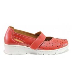 Дамски ортопедични обувки от естествена кожа SOFTMODE 390 Trudy червен | Дамски обувки на платформа