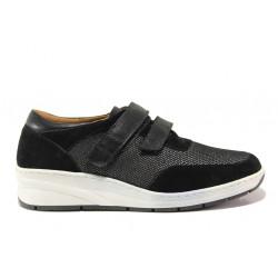 Дамски ортопедични обувки от естествена кожа SOFTMODE 1170 черен | Дамски обувки на платформа