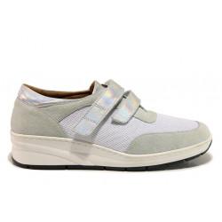 Дамски ортопедични обувки от естествена кожа SOFTMODE 1170 бял | Дамски обувки на платформа